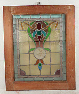 Vintage Stained Glass Window Panel 3143 Nj