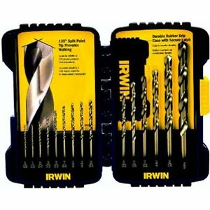 Irwin Industrial Tools 316015 Cobalt Drill Bit Set 15 piece