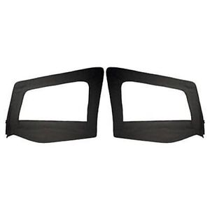 Rampage 89615 Upper Door Skins Black Denim Pair For 1987 1995 Jeep Wrangler Yj