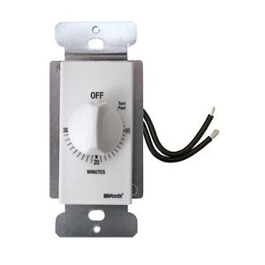 Woods 59714 Decora Style 30 minute Timer Mechanical Wall Switch White