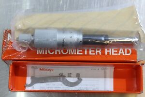 Mitutoyo Micrometer Head Middle Size Heavy Duty 0 25mm 0 001mm
