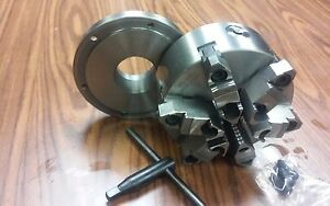 6 6 jaw Self centering Lathe Chuck W Top bottom Jaws W 2 1 4 8 Adaptor new