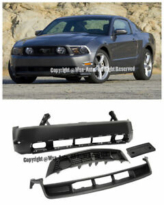 Ford Mustang 10 12 Gt Style Front Bumper Cover W Grille Grill Conversion