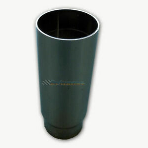 Straight Cut Chrome Exhaust Tip 2 25 Inlet 3 5 Outlet 8 Long