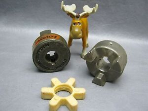 Lovejoy Ss 095 Stainless Steel Coupling Hubs W Spider Insert 1 4 Keyway