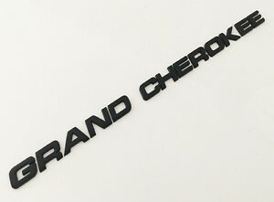 Grand Cherokee Black Chrome Jeep 3d Emblem Badge Adhesive Letter Number Car Suv