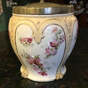 Antique 1868 1898 Taylor Tunnicliffe Co England Biscuit Jar Silver Plated