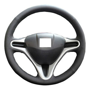 Diy Real Leather Steering Wheel Cover For 2009 2013 Honda Fit 2014 Insight Jazz