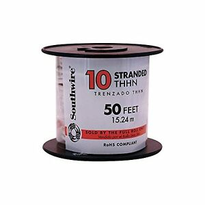Southwire 22974036 Simpull Thhn Or Thwn2 10 Gauge Thhn Stranded Wire 50 Per R