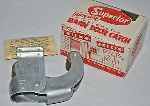 Vintage Superior Barn Door Catch W Hardware Heavy Duty Automatic Latch