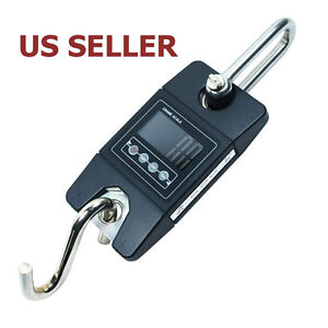 Us Ship 300 Kg 600 Lbs X100g Digital Hanging Scale Sf 912 Industrial Crane Scale