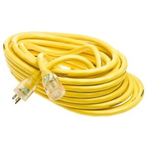 Yellow Jacket 10 3 Heavy duty 15 amp Sjtw Contractor Extension Cord W lighted En