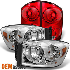 Fit 07 08 Dodge Ram 1500 2007 2009 Ram 2500 3500 Clear Headlights red Tail Light