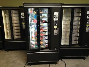 Combo Vending Machine Soda Snack Food Accepts Coins Bills National Vendors
