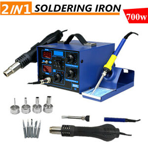 2 In 1 Soldering Rework Stations Smd Hot Air Iron Desoldering Welder Esd 862d