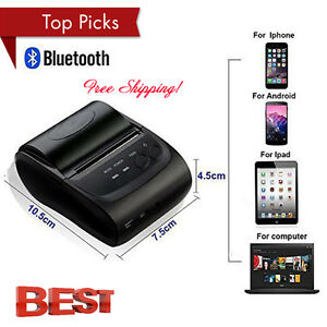 Wireless Bluetooth Usb Thermal Receipt Printer 58mm Line Mobile Pos Android Us T