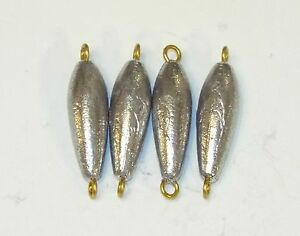 10 Fishing In-Line Lead Weight Trolling Sinker Bulk 10 Pieces