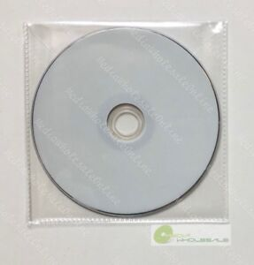 100 Cd Dvd Cpp Clear Plastic Sleeves With Flap And Stitches On Border 65 Microns