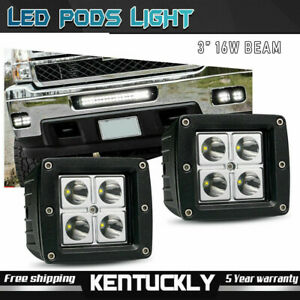 2x 27w Flood Round 4 Inch Fog Driving Drl Offroad Lamp Work Led Light 4wd Jeep