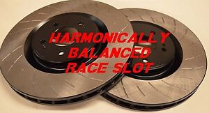Fit Mustang Cobra Harmonically Balanced Race Slotted Brake Rotors F r Set