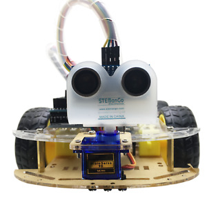 For Arduino 4wd Robot Car Kit Autonomous Ir Obstacle Avoid Line Tracking Android