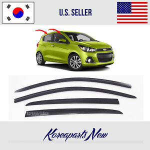 Smoked Door Window Rain Vent Visor Deflector Hyundai Tucson 2011 2015