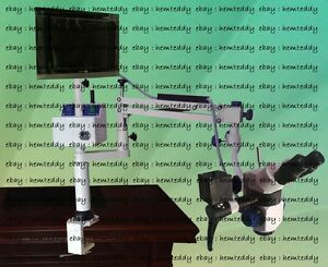 3 Step Table Mount Surgical Dental Microscope With Led Monitor