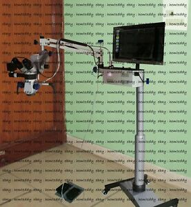 5 Step Magnification Dental Microscope With Accessories silver Free Shipping