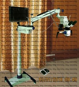 Surgical Microscope Dental Surgery 3 Steps Mag pal Ccd Camera led Monitor