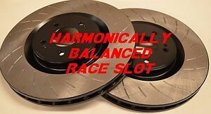 Fit G35 350z W Brembo Harmonically Balanced Race Slotted Brake Rotors Rear