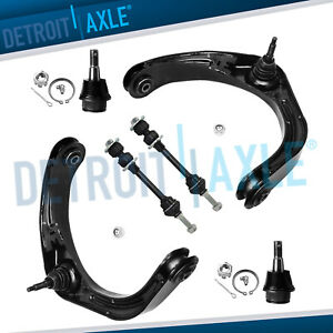 2006 2008 Dodge Ram 1500 Rwd 6pc Front Upper Control Arm Ball Joint Sway Bar Kit