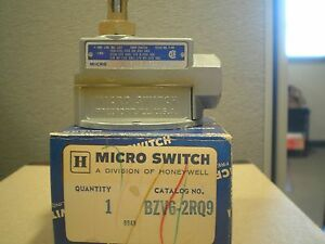 Honeywell Micro Switch Bzv6 2rq9 Limit Switch