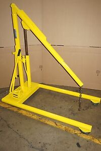 Ruger Two Speed Hydraulic Portable Floor Crane 1 000 Pound Capacity