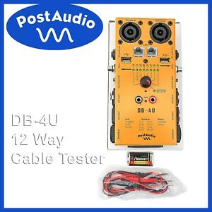 Post Audio Db 4u Cable Tester Tests 12 Kinds Of Cables Includes Battery