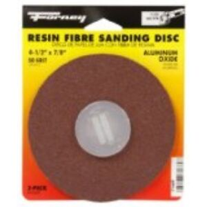 Forney 71669 Sanding Discs Aluminum Oxide With 7 8 inch Arbor 4 1 2 inch 50 g