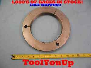 6 1 4 16 Ns 3 Thread Ring Gage 6 250 Go Only P d 6 2094 Inspection Tooling