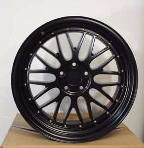 19 Black Lm Style Staggered Wheels Rims Toyota Lexus Supra Gs300 Is300 Gs400
