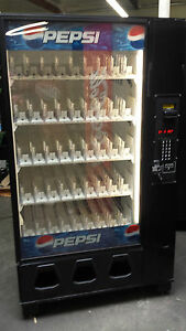 Dixie Narco 5591 Bottle Drop Soda Vending Machine With Bills Coins Made In Usa