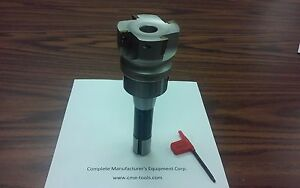 2 1 2 90 Degree Indexable Face Shell Mill face Milling Cutter Apkt w R8 Arbor