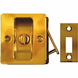 National Hardware V1951 Pocket Door Latch In Solid Brass