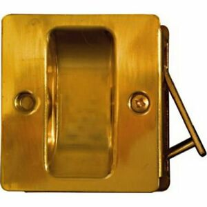National Hardware V1950 Pocket Door Pull In Solid Brass