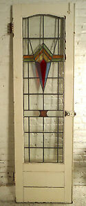 Vintage Art Deco Stained Glass Door 02649 Ns