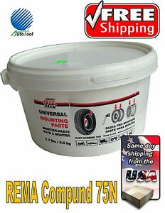 Rema Tire Universal Mounting Lube Paste Made In Usa 75n 7 7 Lbs Tpms Safe