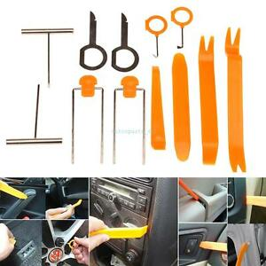 12 Pcs Universal Panel Removal Open Pry Tools Kit Car Auto Dash Door Radio Trim