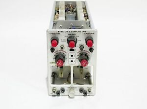 Tektronix Type 3s2 Sampling Unit Plug in Without Heads