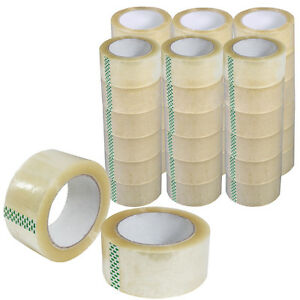 5 Rolls Of Heavy Duty Packing Carton Box Tape 2 5 Mil 64 Mic 2 In X 110 Yards