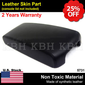 Center Console Lid Armrest Cover Leatherette For Nissan Altima 2013 2018 Black