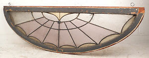 Vintage Arched Stained Glass Window 0204 Nj