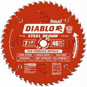 Freud Metal Cutting Blade 7 1 4 Dia 48 Teeth Steel