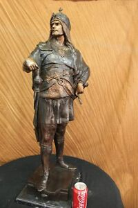 36 Tall Bronze Sculpture Collector Numbered Edition Arab Man Figurine Hot Cast